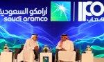 El presidente y CEO de Saudi Aramco, Amin Nasser, y el director de la petrolera, Yasser al Rumayyan