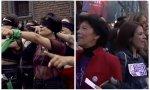 Vídeo del himno 'El violador eres tú' y ministras del Gobierno Sánchez el 8-M