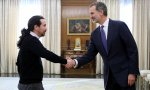 Encuentro Felipe VI y Pablo Iglesias