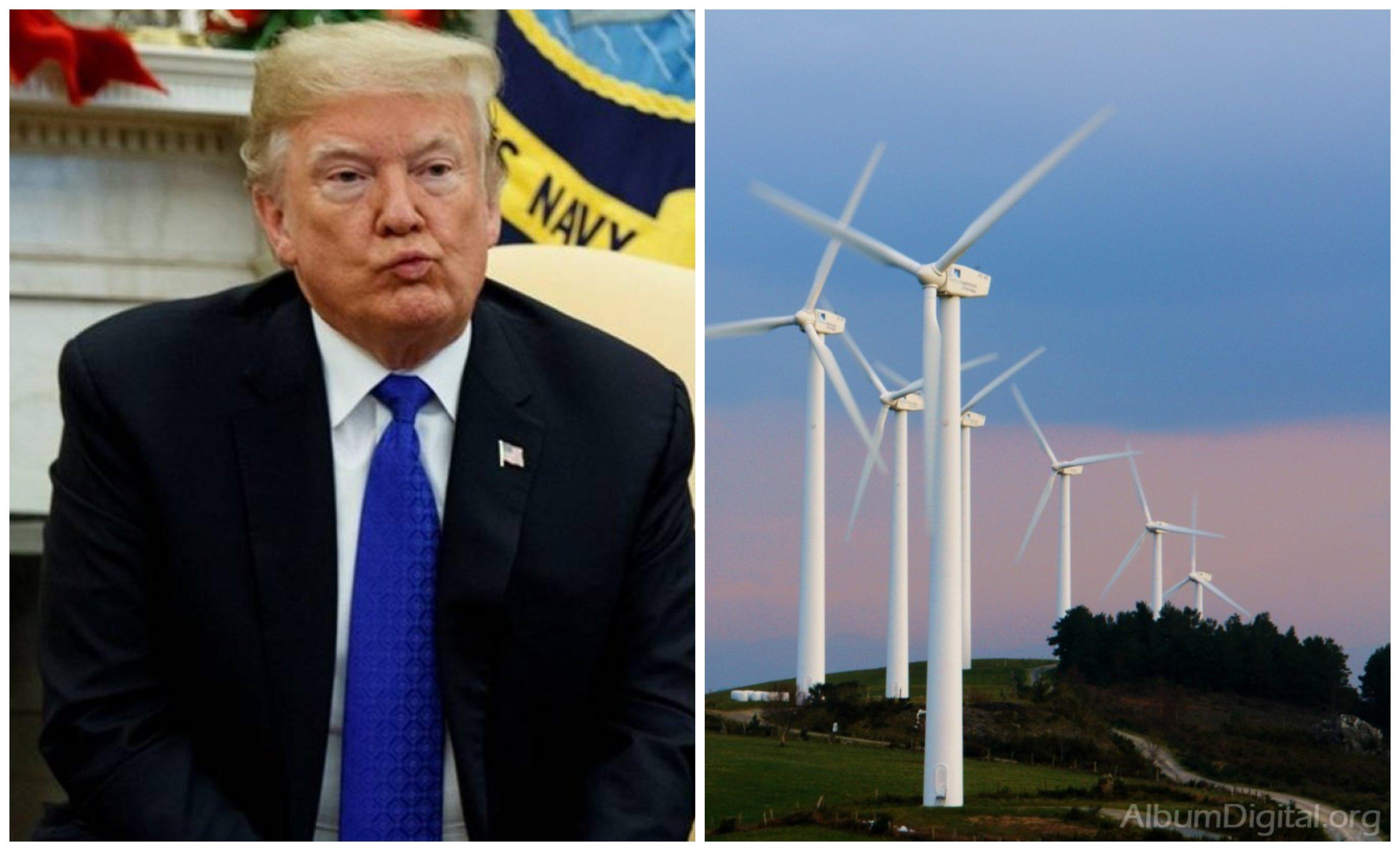 A Donald Trump no le gustan los eólicos