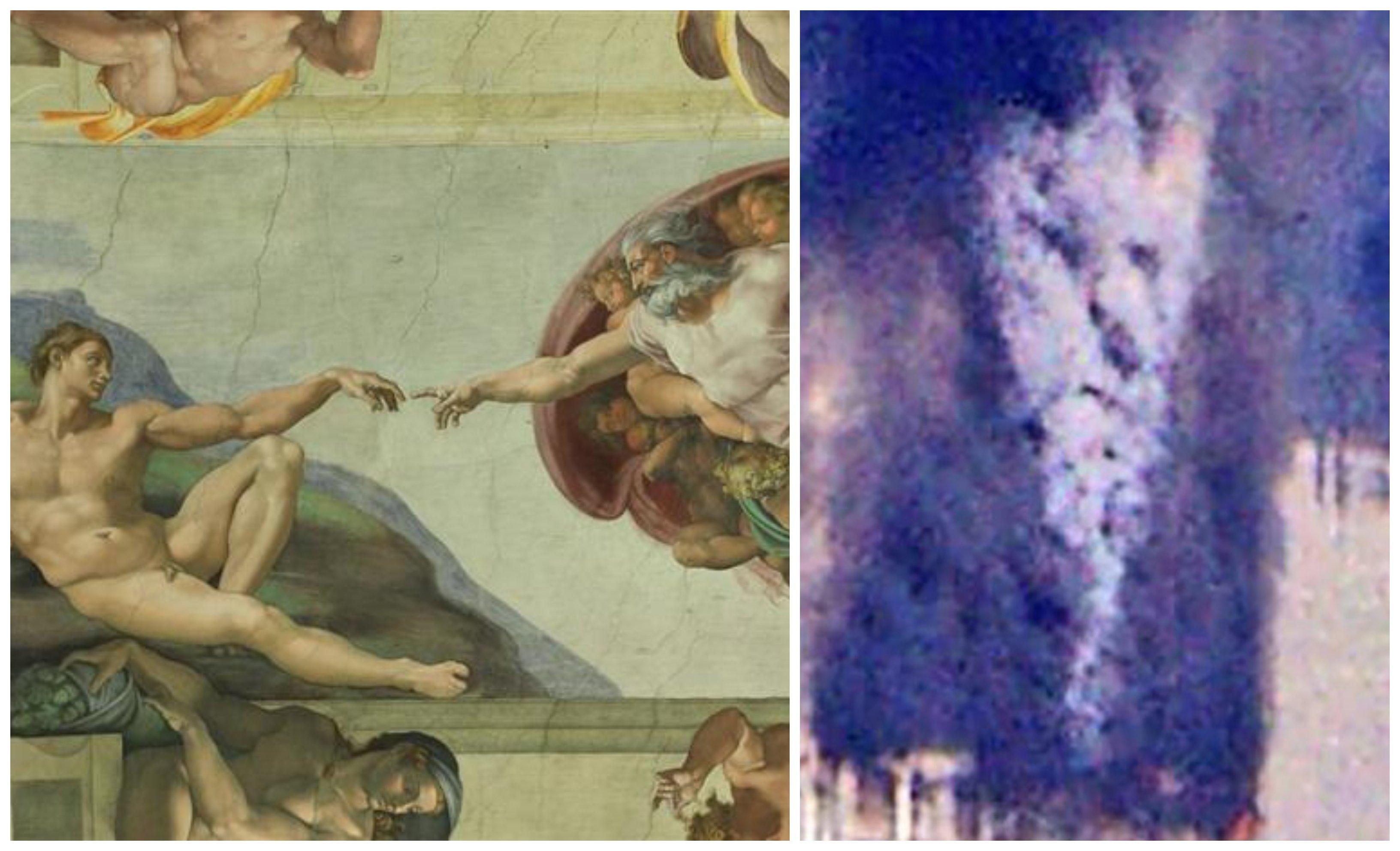 La creación de Miguel Ángel y la silueta del demonio en el 11 S
