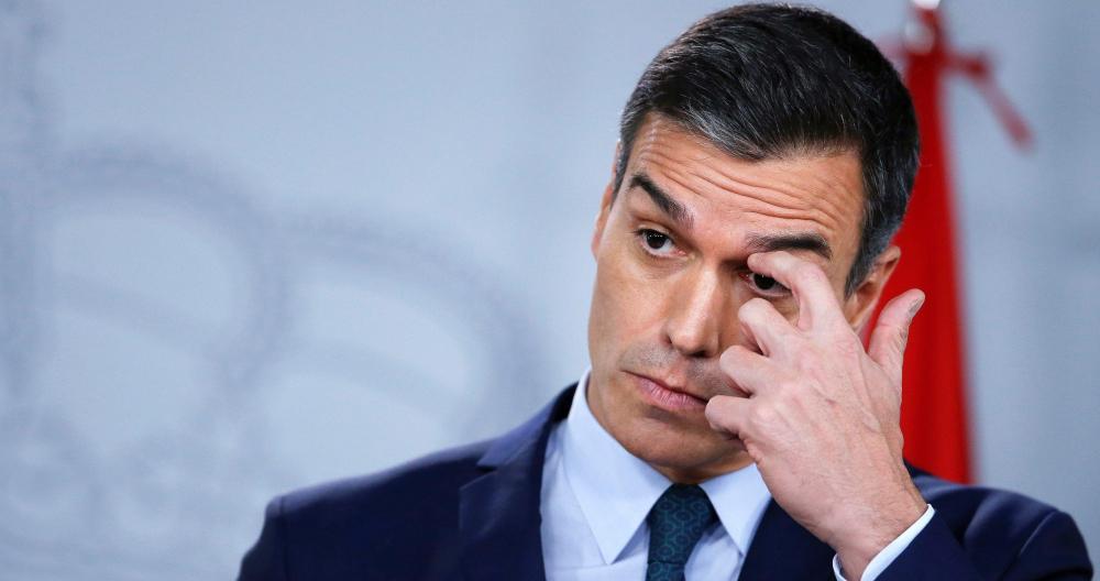 Pedro Sánchez, en una comparecencia ante los medios en La Moncloa