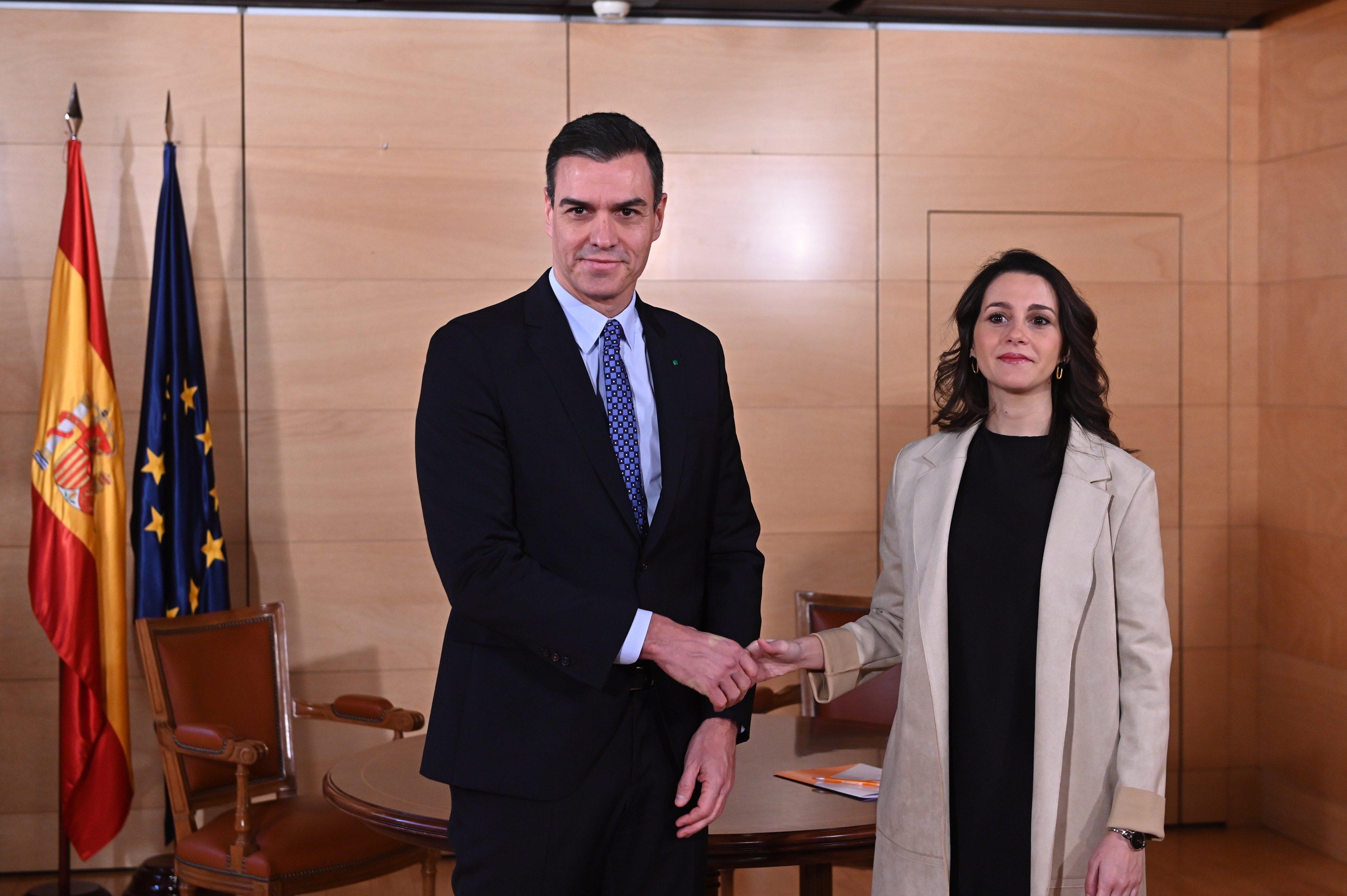 Pedró Sánchez e Inés Arrimadas