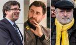 Carles Puigdemont y los exconsellers Toni Comín y Lluís Puig