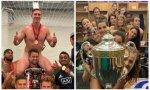 Celebración 'naked (and dirty) trophy' de ellos y ellas. La imbecilidad no entiende de sexos