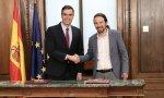Sánchez e Iglesias firman su programa de Gobierno progresista