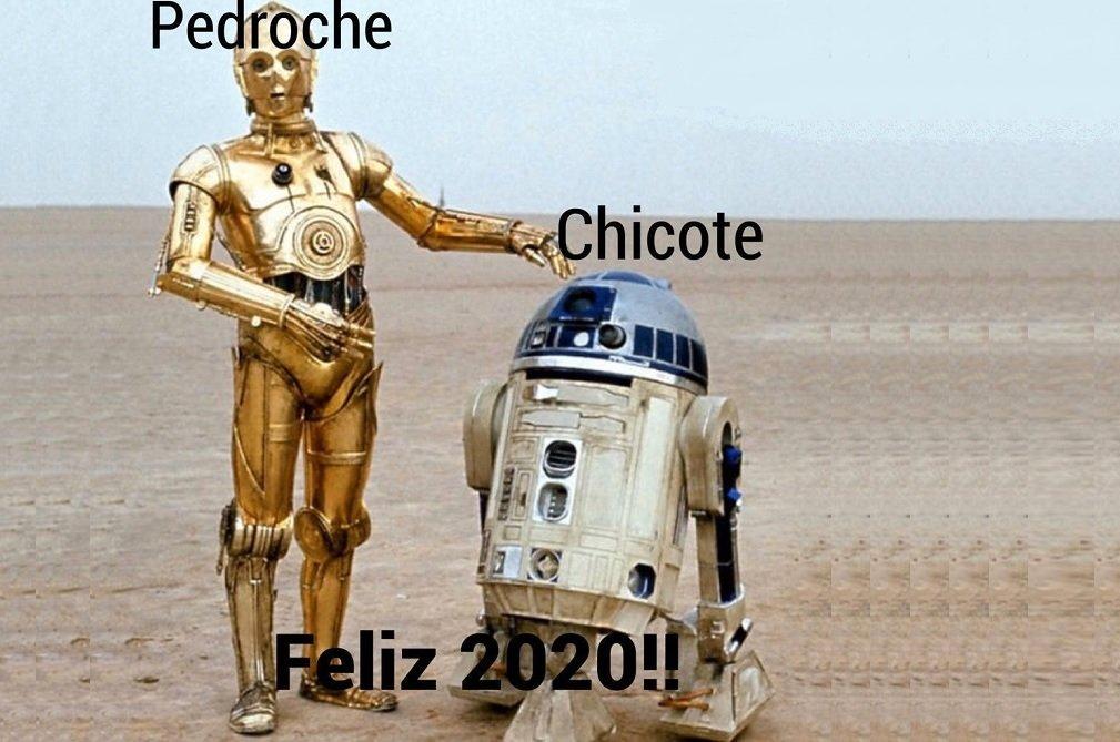 Meme sobre las Campanadas que dieron Pedroche y Chicote en Antena 3