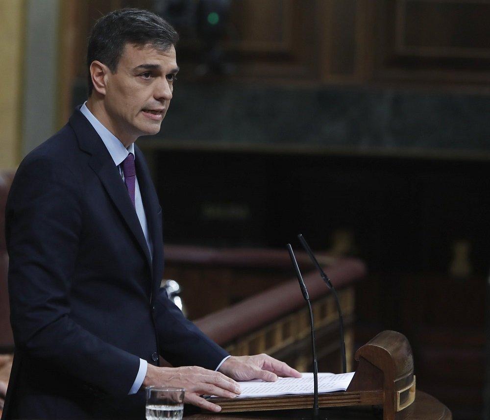 Sánchez desde la tribuna del Congreso de los Diputados