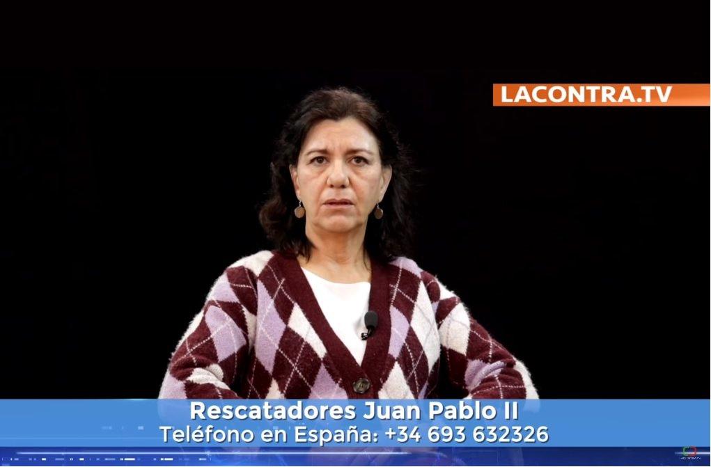 Marta Velarde, presidenta de la Asociación Más Futuro y de los rescatadores Juan Pablo II