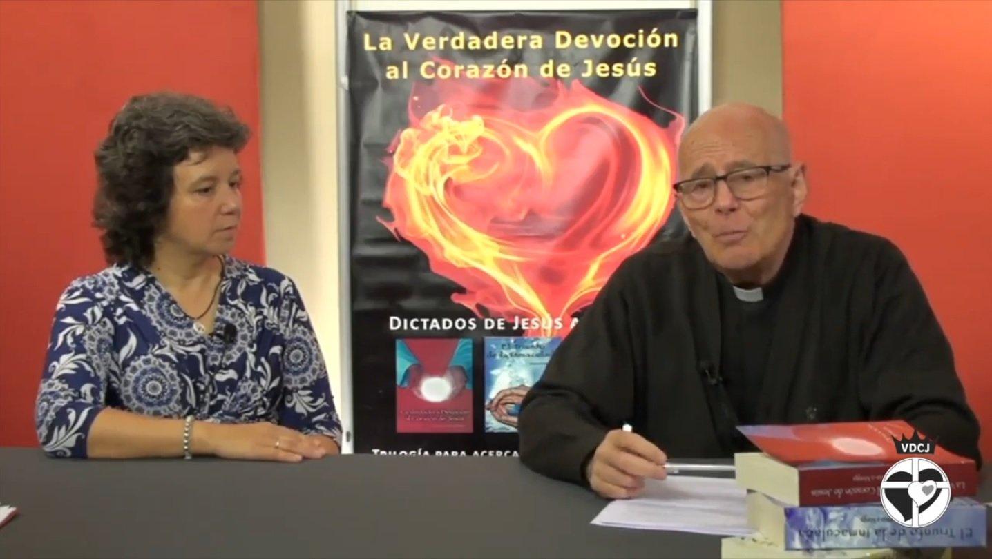 Margarita de Llano y su director espiritual