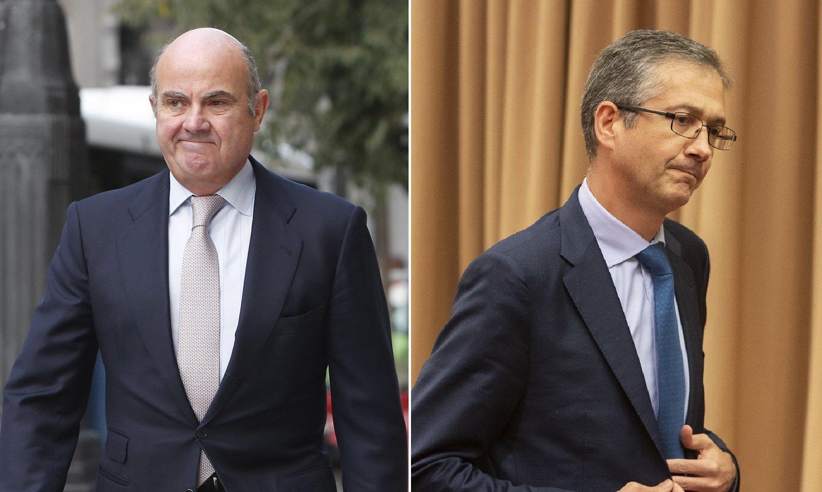 Luis de Guindos y Pablo Hernández de Cos