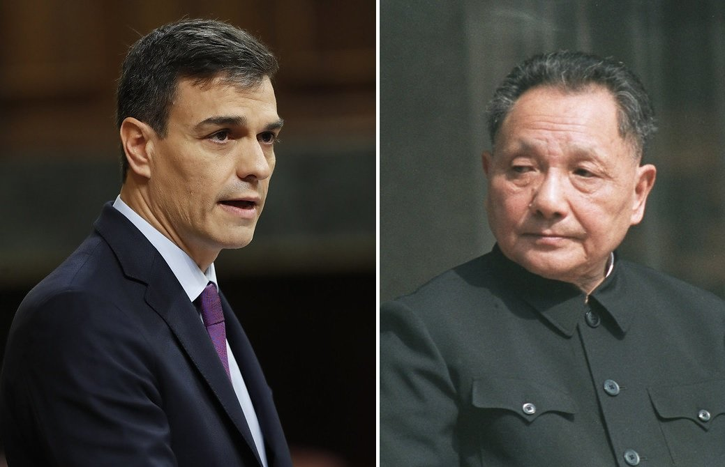 Pedro Sánchez y Deng Xiaoping