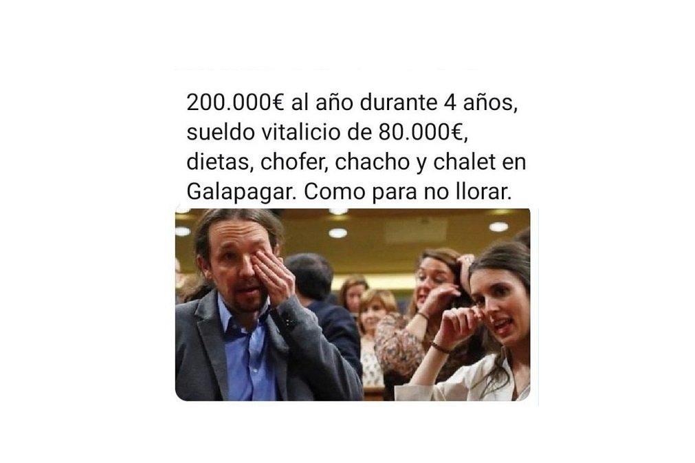 Los rojos también lloran... Así lo demostraron los diputados de Unidas Podemos tras la investidura de Sánchez