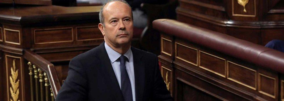 """El ministro de Justicia, Juan Carlos Campo, a su vicepresidente, Pablo Iglesias: """"Estoy convencido de que los políticos hablamos demasiado"""""""