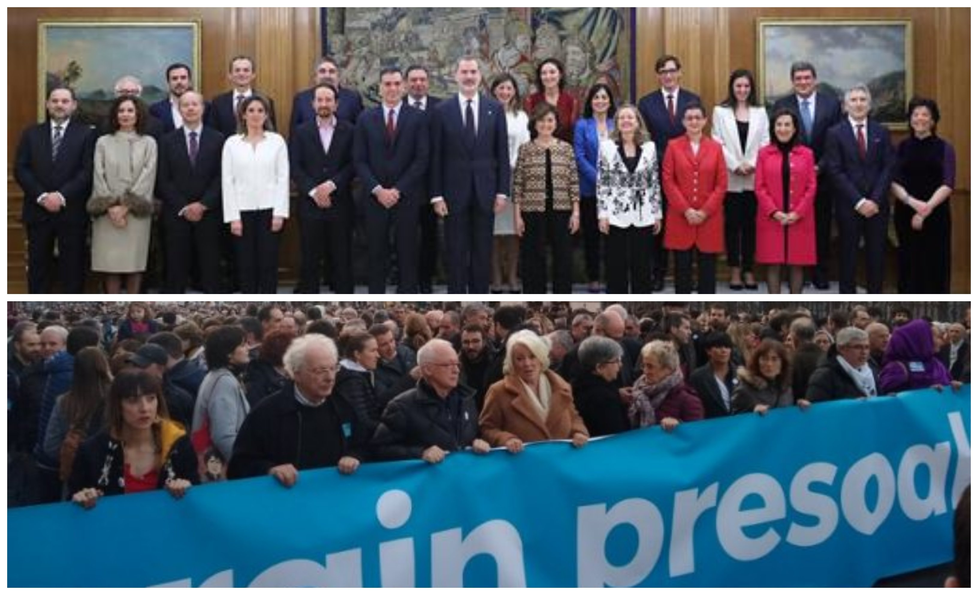 Podemos en la manifestación pro-presos etarras. ¿Se está radicalizando el PSOE?