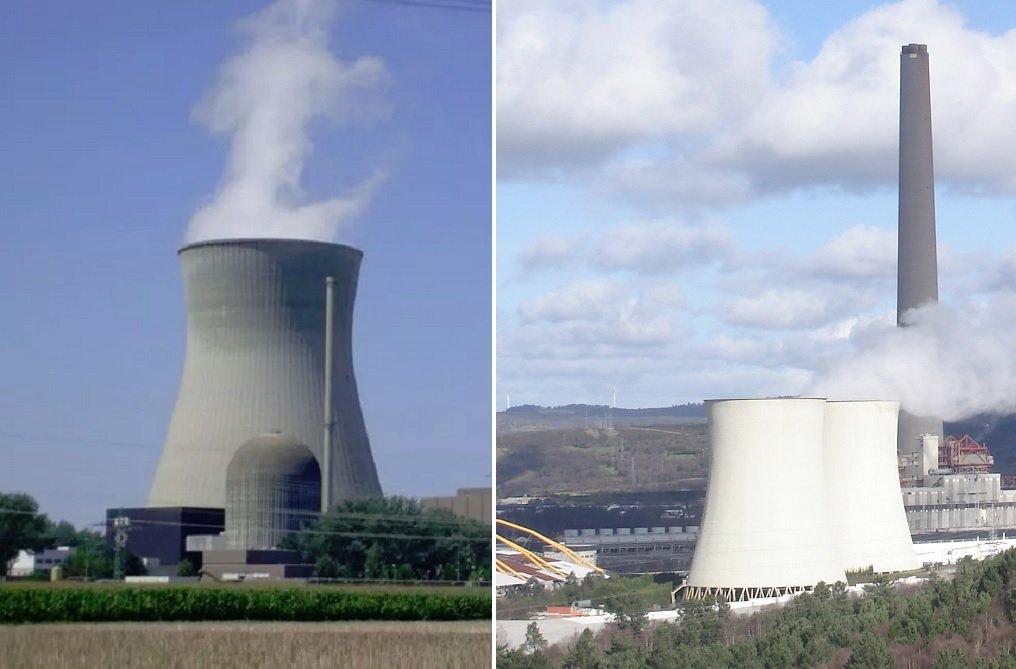 Una central nuclear y una de carbón, en funcionamiento, pero ambas tienen los días contados en España y en Alemania