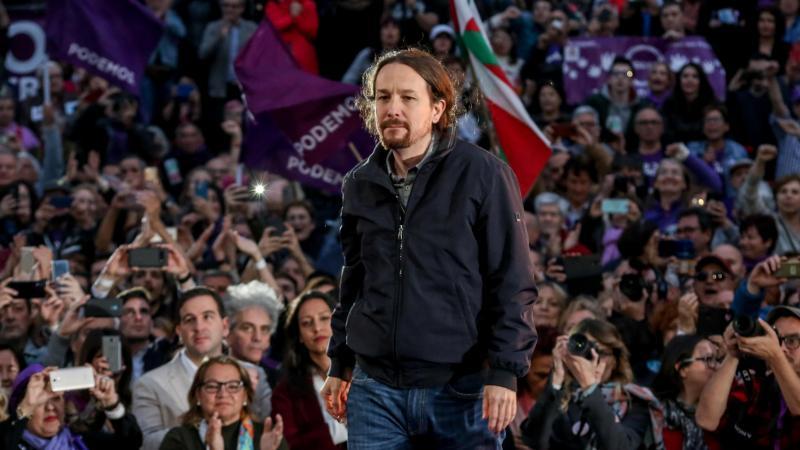 Pablo Iglesia durante un acto de campaña electoral