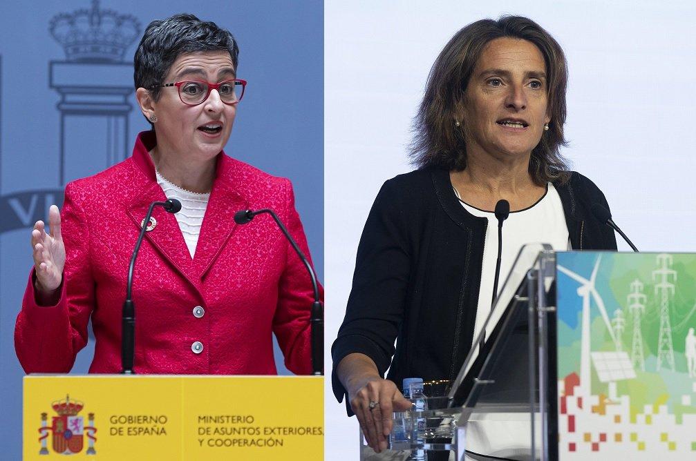 A González Laya y Ribera no les gusta lo poco que Bruselas valora que España lleve ventaja en  descabonización