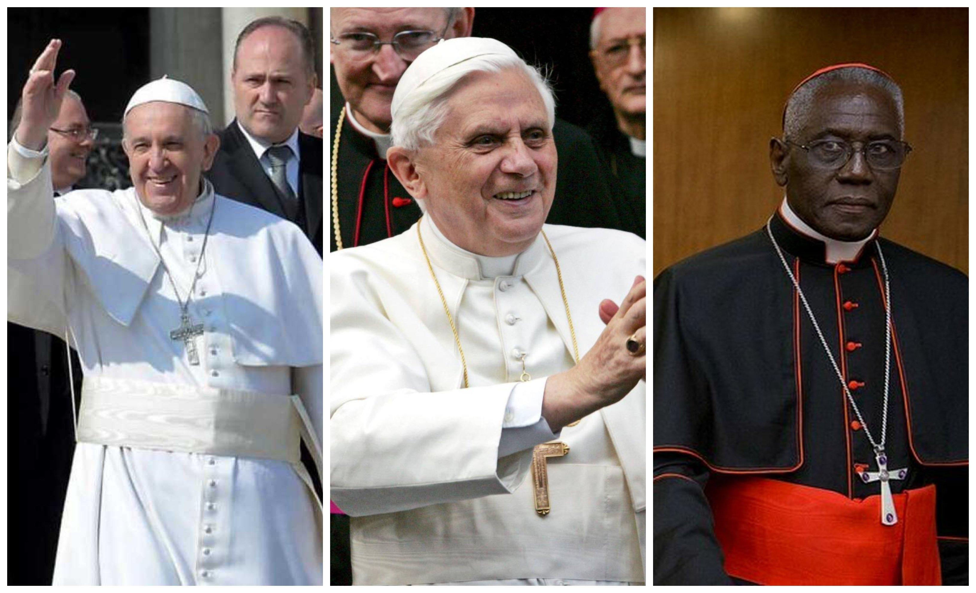 Bergoglio, Ratzinger y Sarah son tres católicos de una pieza… abrumados por la mayor crisis de toda la historia de la Iglesia: la de ahora mismo