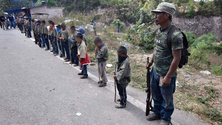 Niños soldado en México