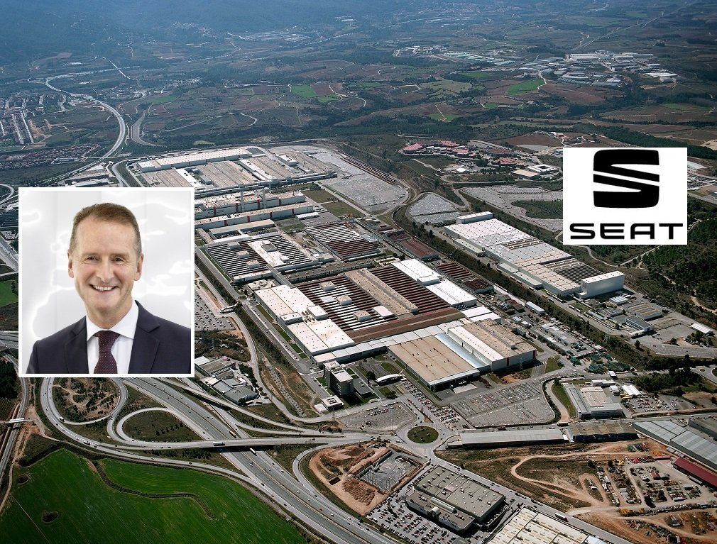 Herbert Diess, CEO del grupo Volkswagen, celebra los buenos resultados de Seat