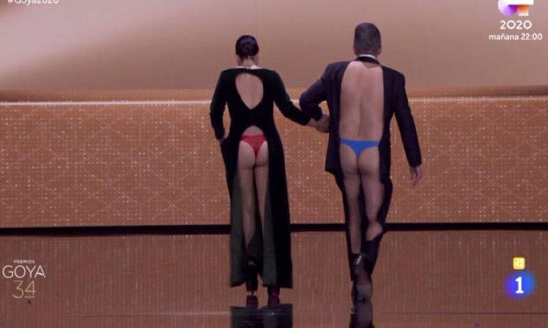 Silvia Abril y Andreu Buenafuente enseñando el trasero, imagen profunda del cine español