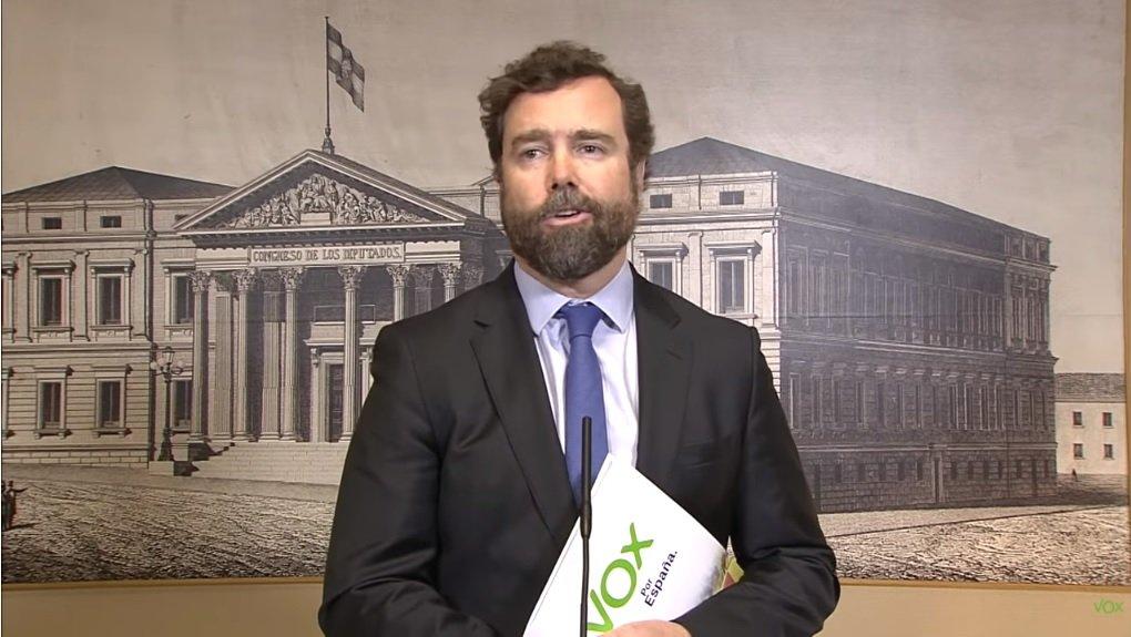 Iván Espinosa de los Monteros, portavoz del grupo parlamentario de Vox en el Congreso