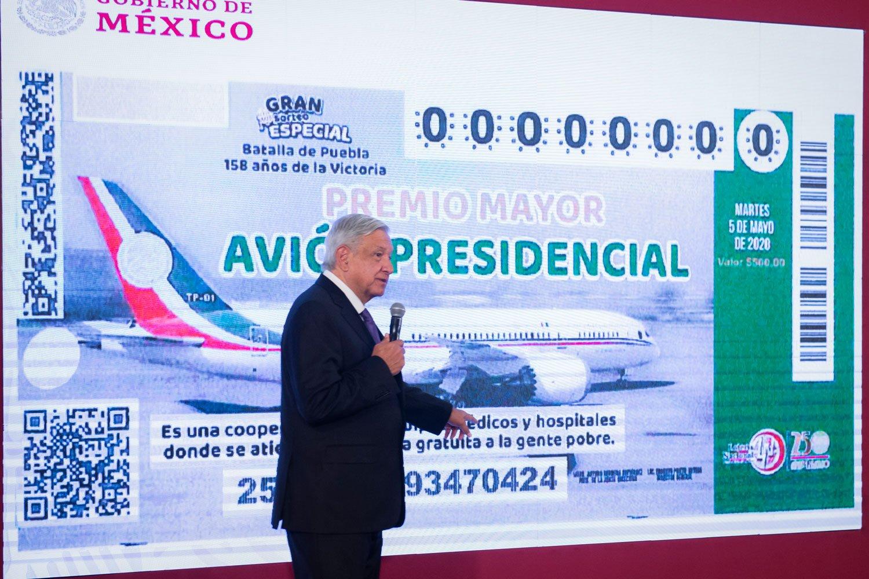 Lopez Obrador subasta el avión presidencial… Pedro, igual te interesa