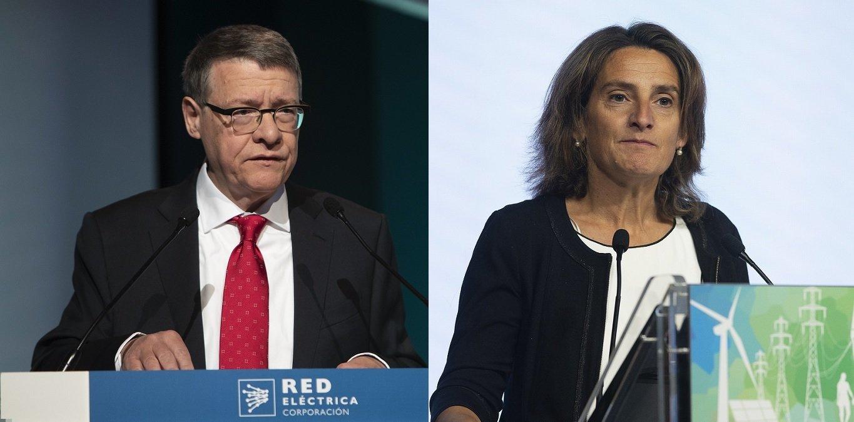 Jordi Sevilla y la vicepresidenta de Transición Ecológica, Teresa Ribera