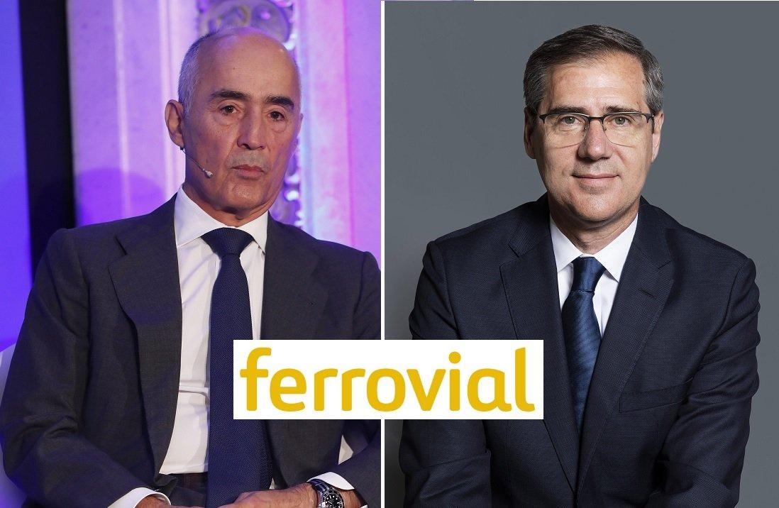Rafael del Pino, presidente de Ferrovial, e Ignacio Madridejos, quien sustituyó como CEO a Íñigo Meirás a finales del pasado septiembre
