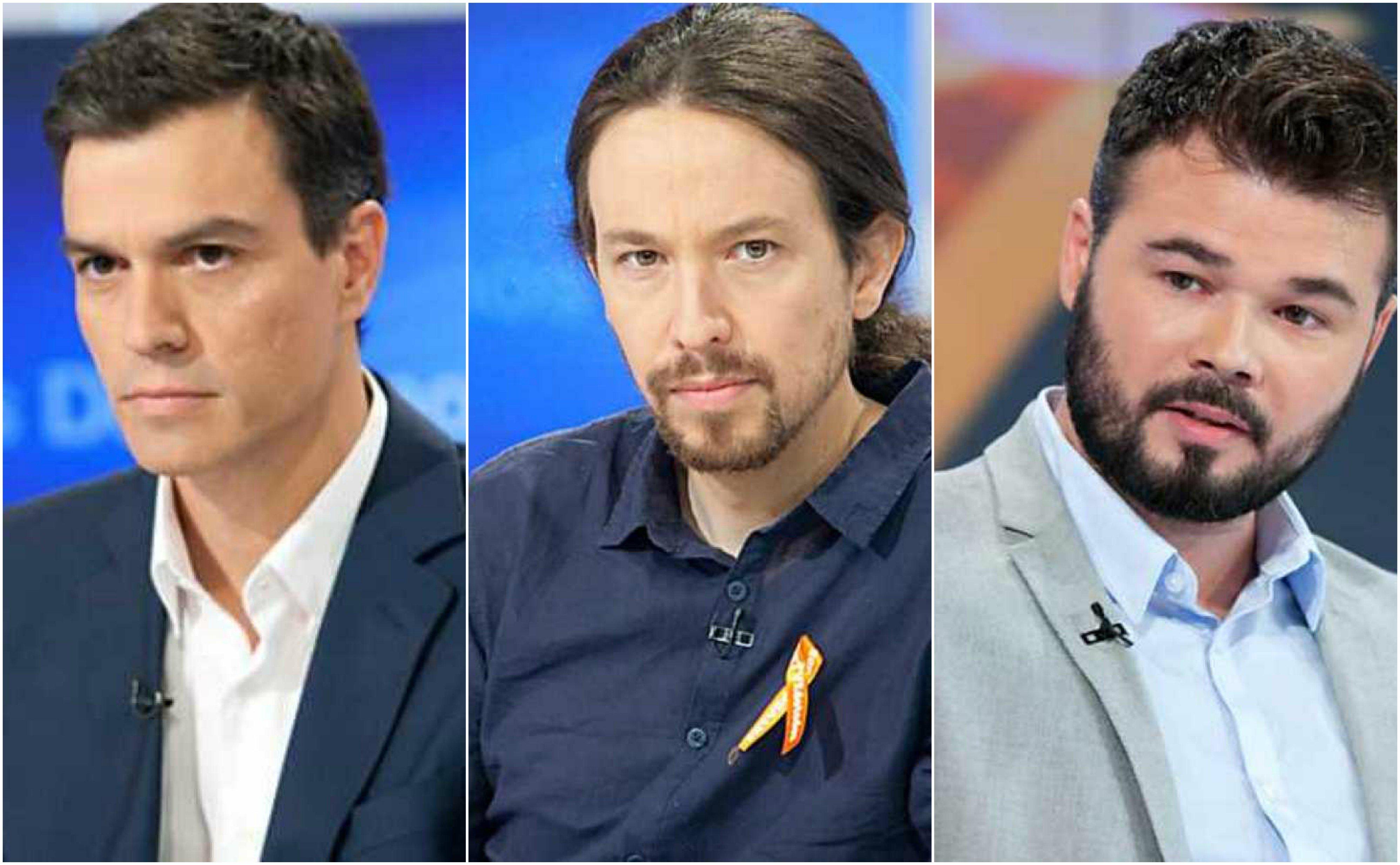 Sánchez, Iglesias y Rufián