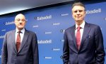 Josep Oliu y Jaime Guardiola, presidente y CEO, respectivamente, del Banco Sabadell