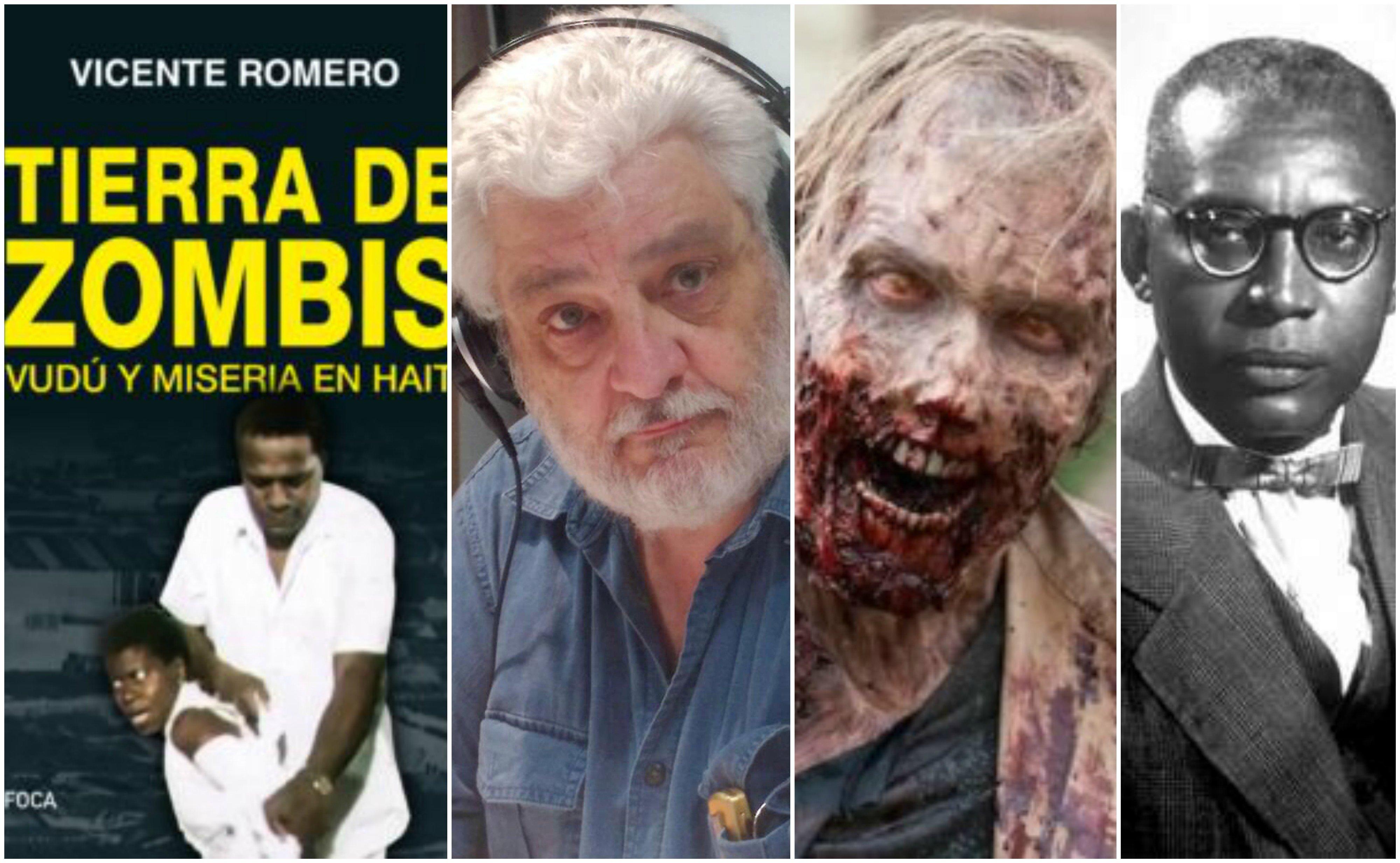 'Tierra de zombies', Vicente Romero, un zombie y Papa Doc
