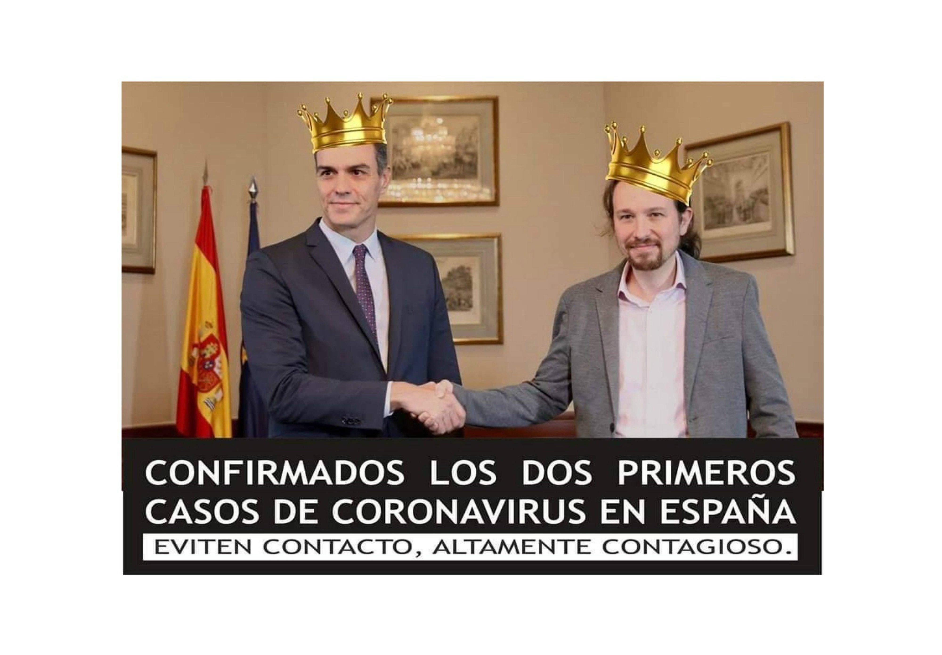 Sánchez e Iglesias víctimas del 'corona-virus'