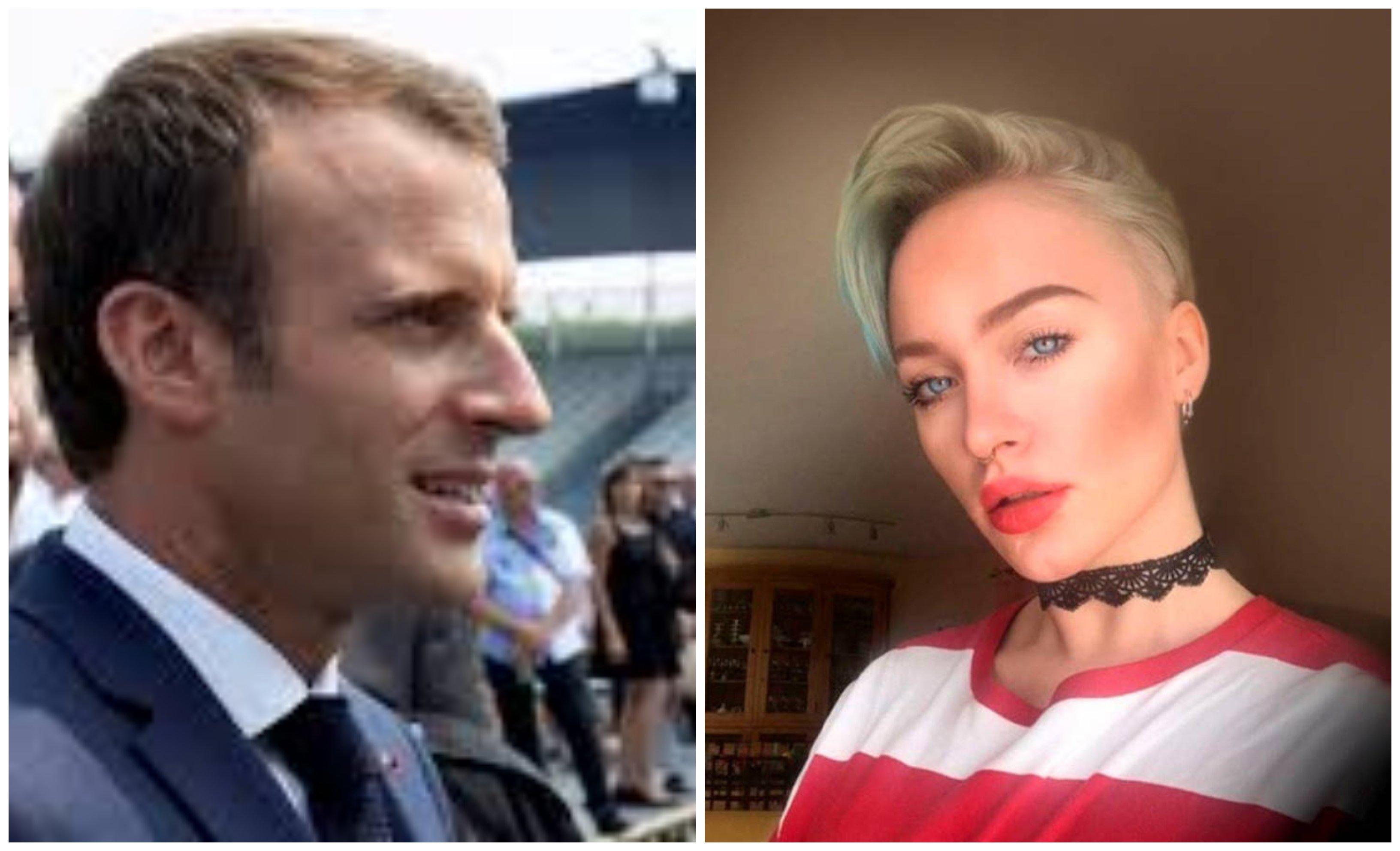 Macron y la adolescente (2)