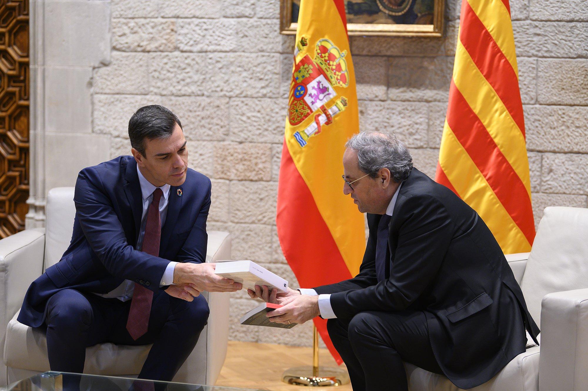 "Dos presidentes en Cataluña. Sánchez supera todas las expectativas: ""He venido a hablar de esperanza"""