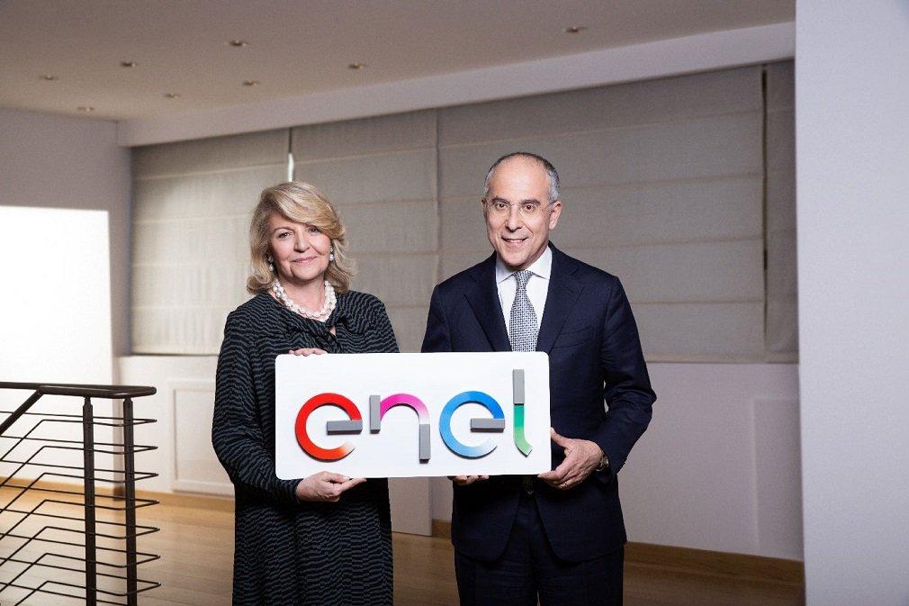 Patrizia Grieco y Francesco Starace, presidenta y CEO de Enel, respectivamente