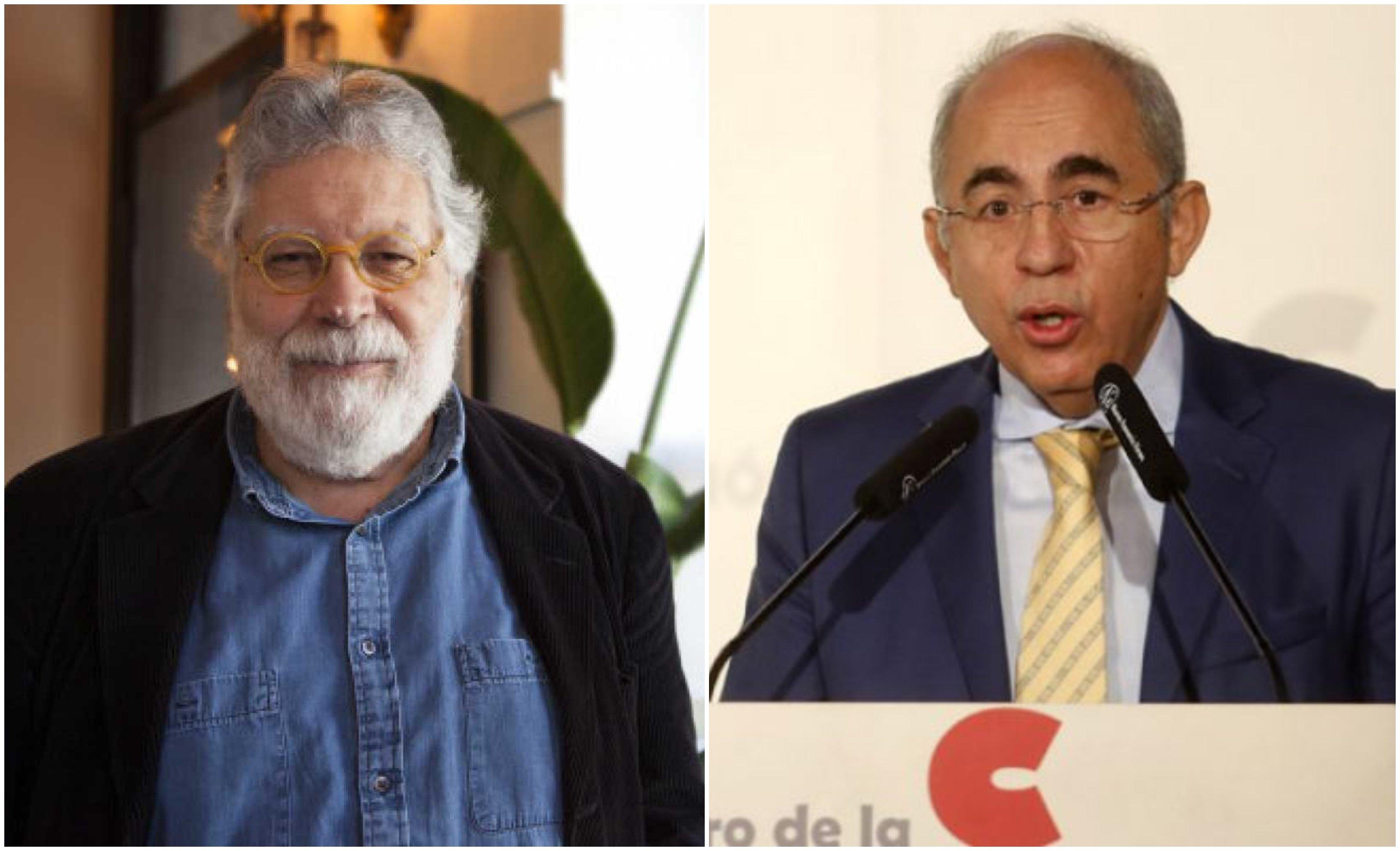 Joaquín Estefanía, adjunto a la dirección de El País, y Francisco Rosell, director de El Mundo (1)