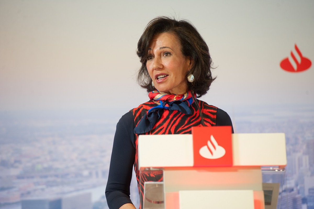 Ana Botín, presidenta de Banco Santander, durante la presentación de resultados de 2019