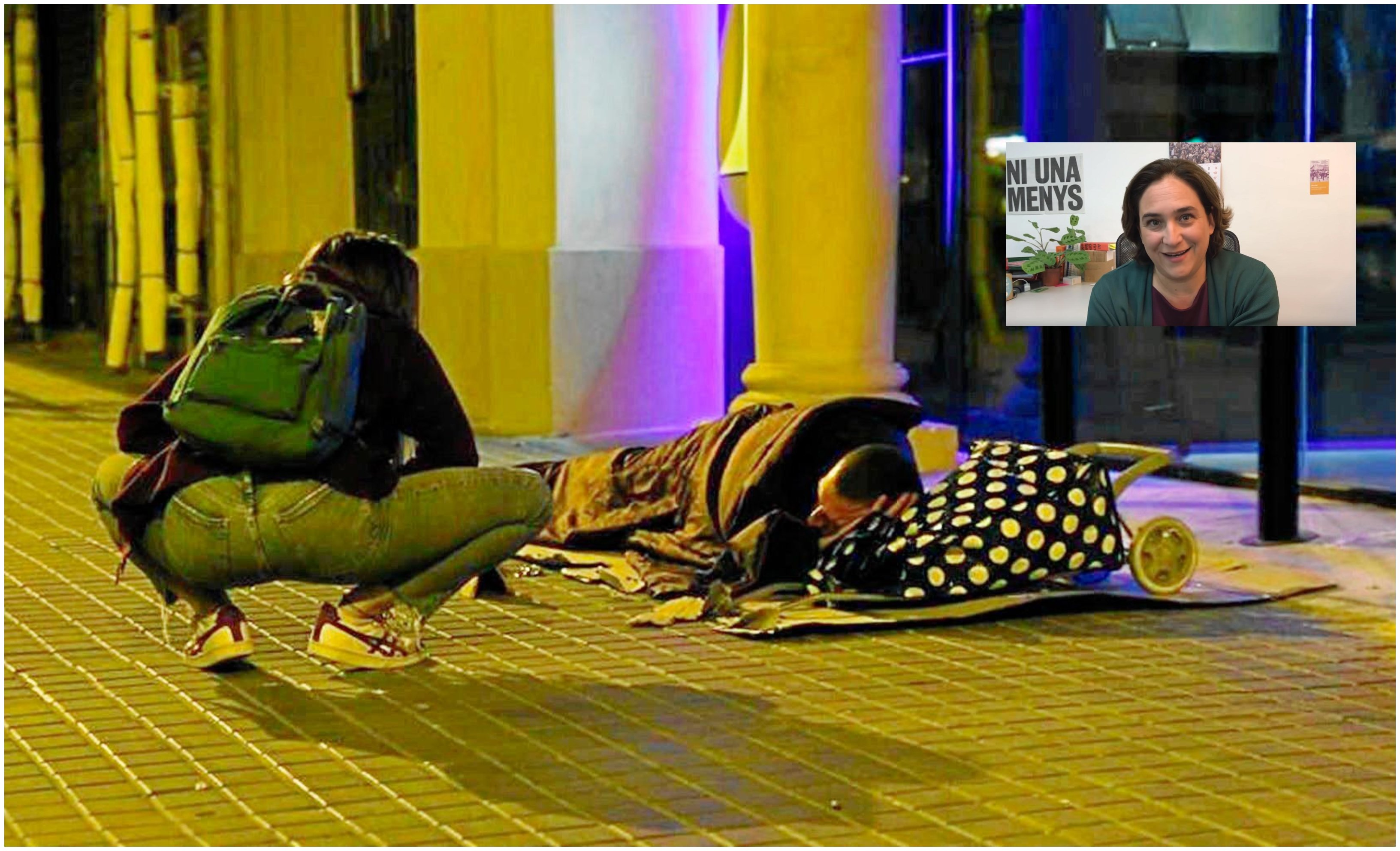 La alcaldesa de Barcelona gasta 600.000 € en un plan que discrimina a los hombres sin techo