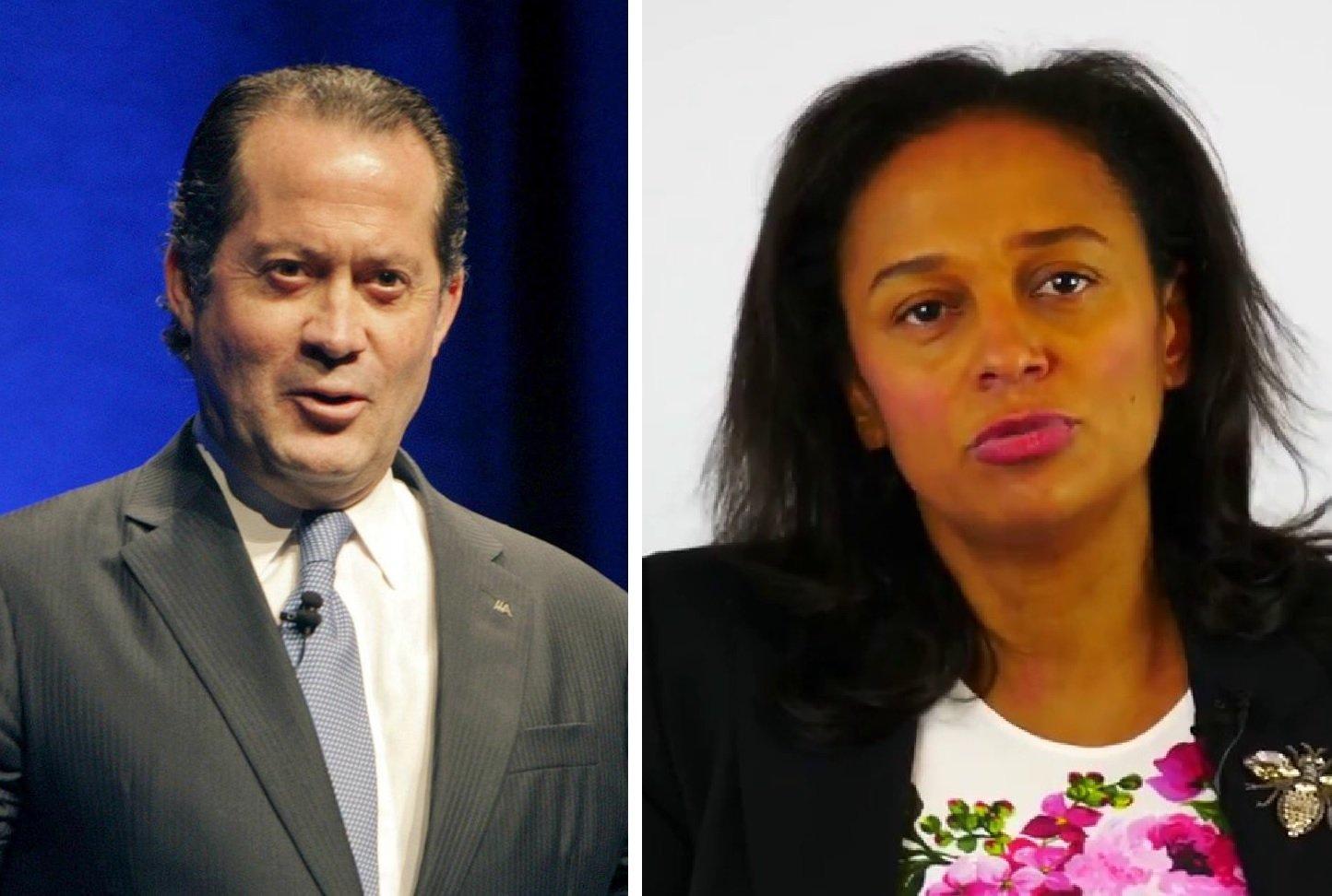 Juan Carlos Escotet e Isabel dos Santos