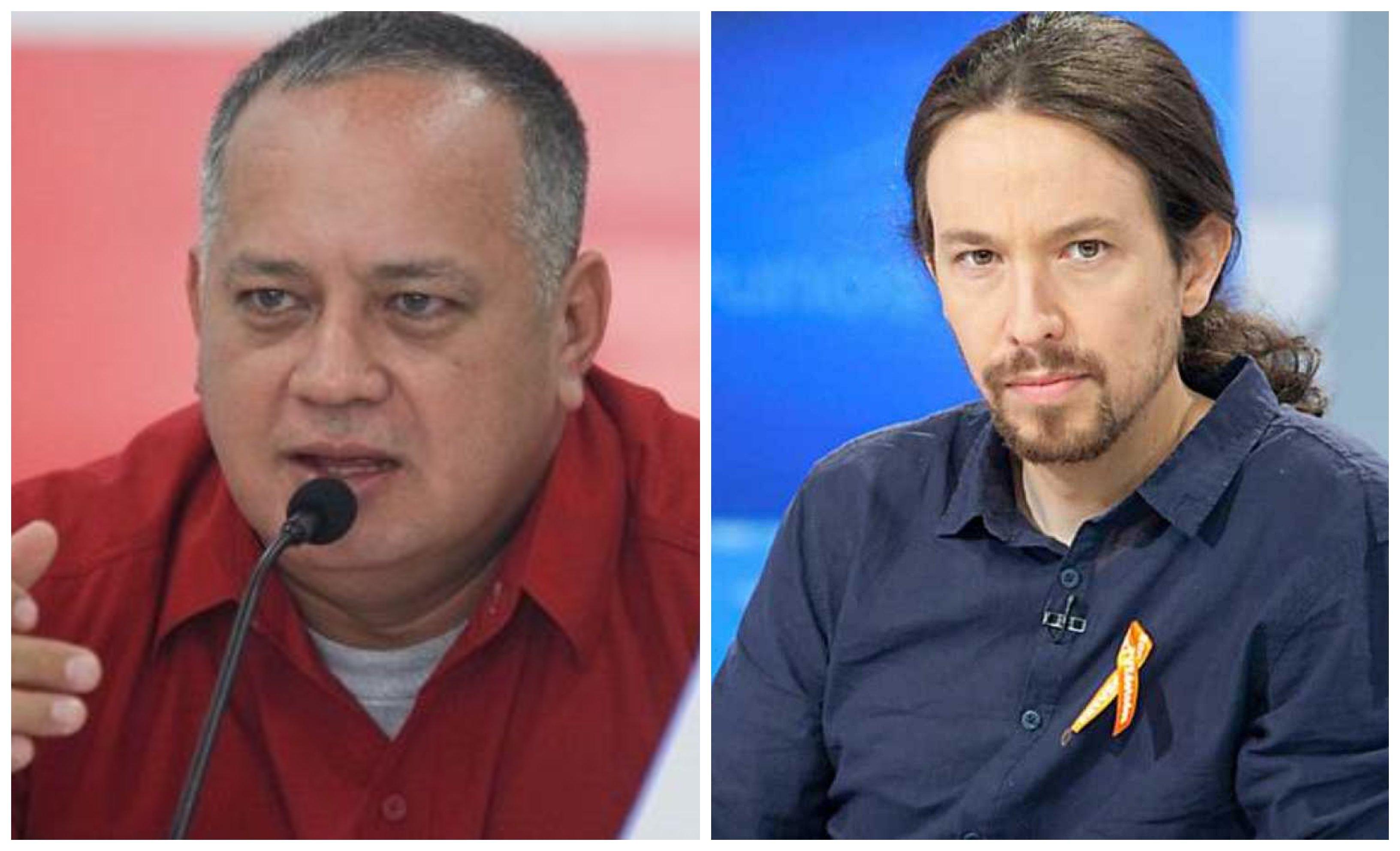 Diosdado Cabello y Pablo Iglesias