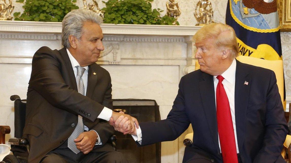 Lenín Moreno y Trump
