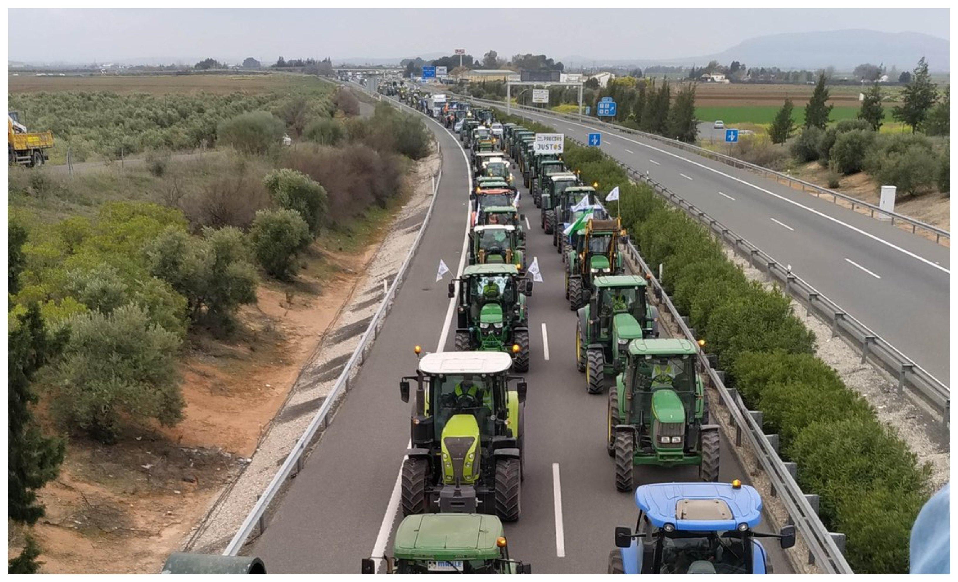 El campo traslada a Málaga y a Córdoba sus reivindicaciones... y el ministro Planas intenta ponerse a la cabeza de la manifestación