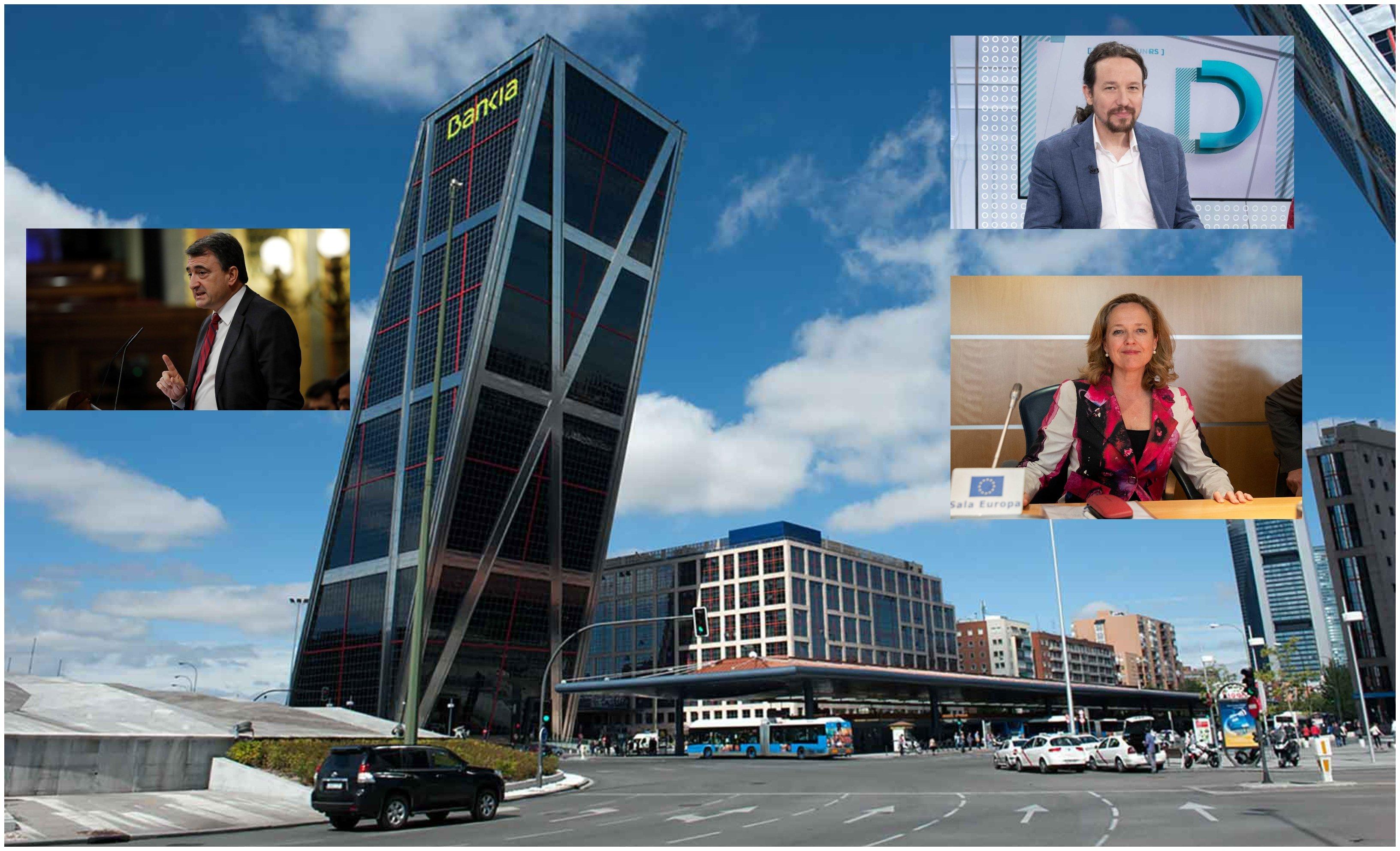 La batalla de Bankia. Calviño e Iglesias pactan: que se quede como está… pero el PNV de Aitor Esteban insiste en la fusión con BBVA
