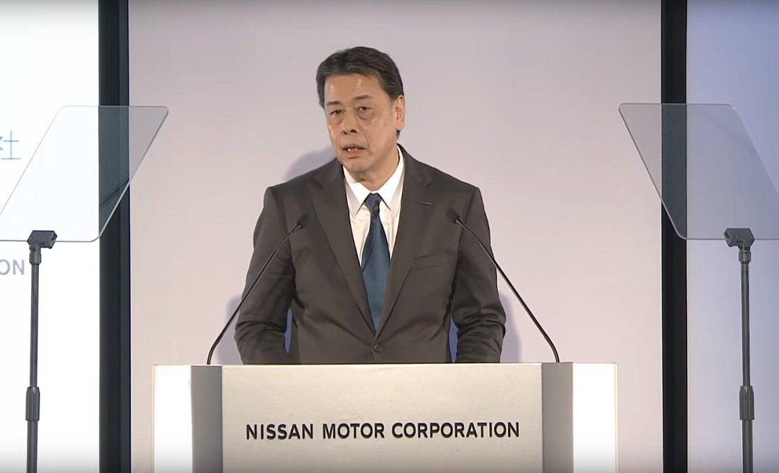 Makoto Uchida, CEO de Nissan, en la presentación de resultados