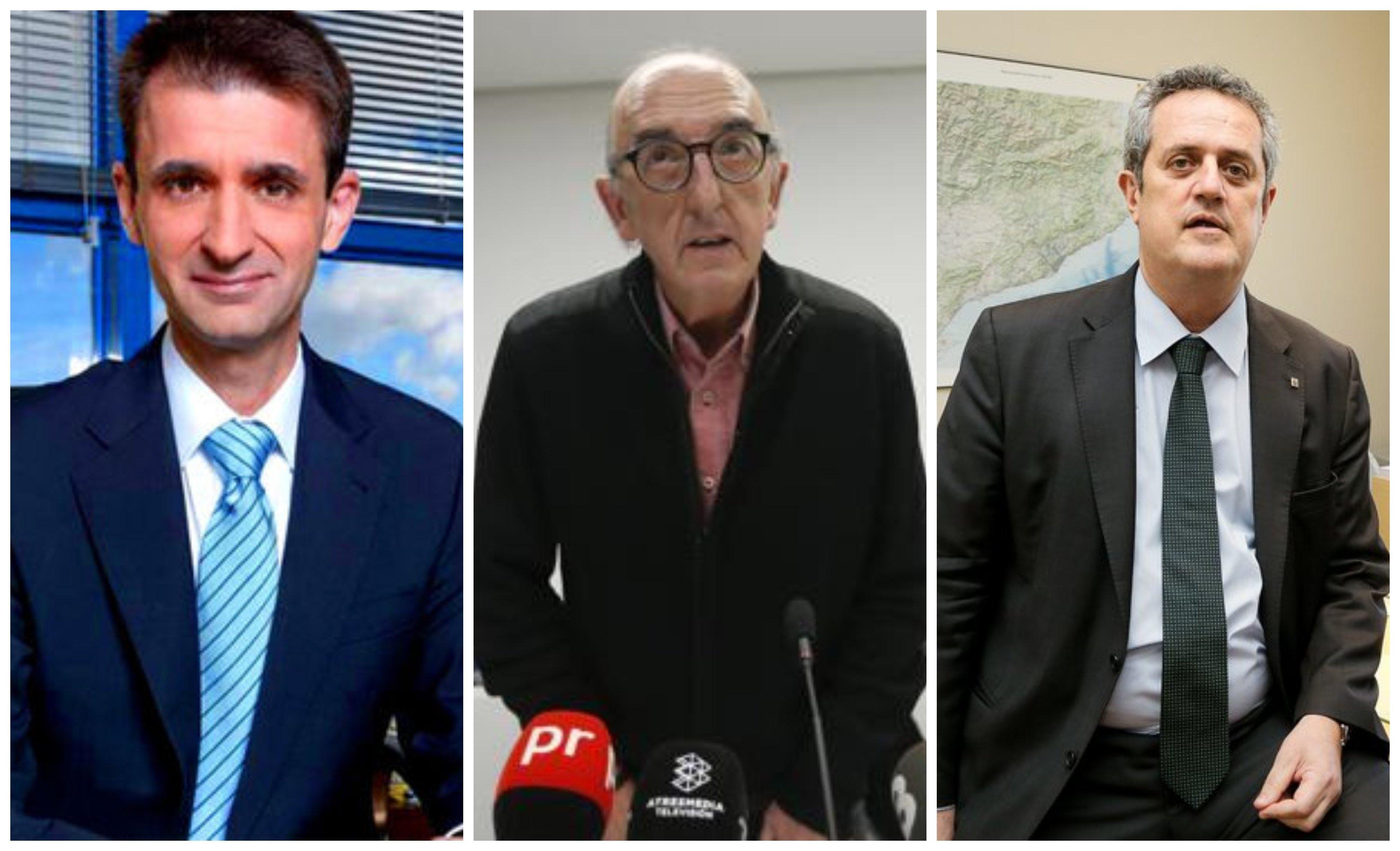Telemadrid. Detrás del director López, pegado al sillón de mando, está Jaume Roures. Mientras, Mediapro 'ficha' a Joaquim Forn, condenado por el Tribunal Supremo