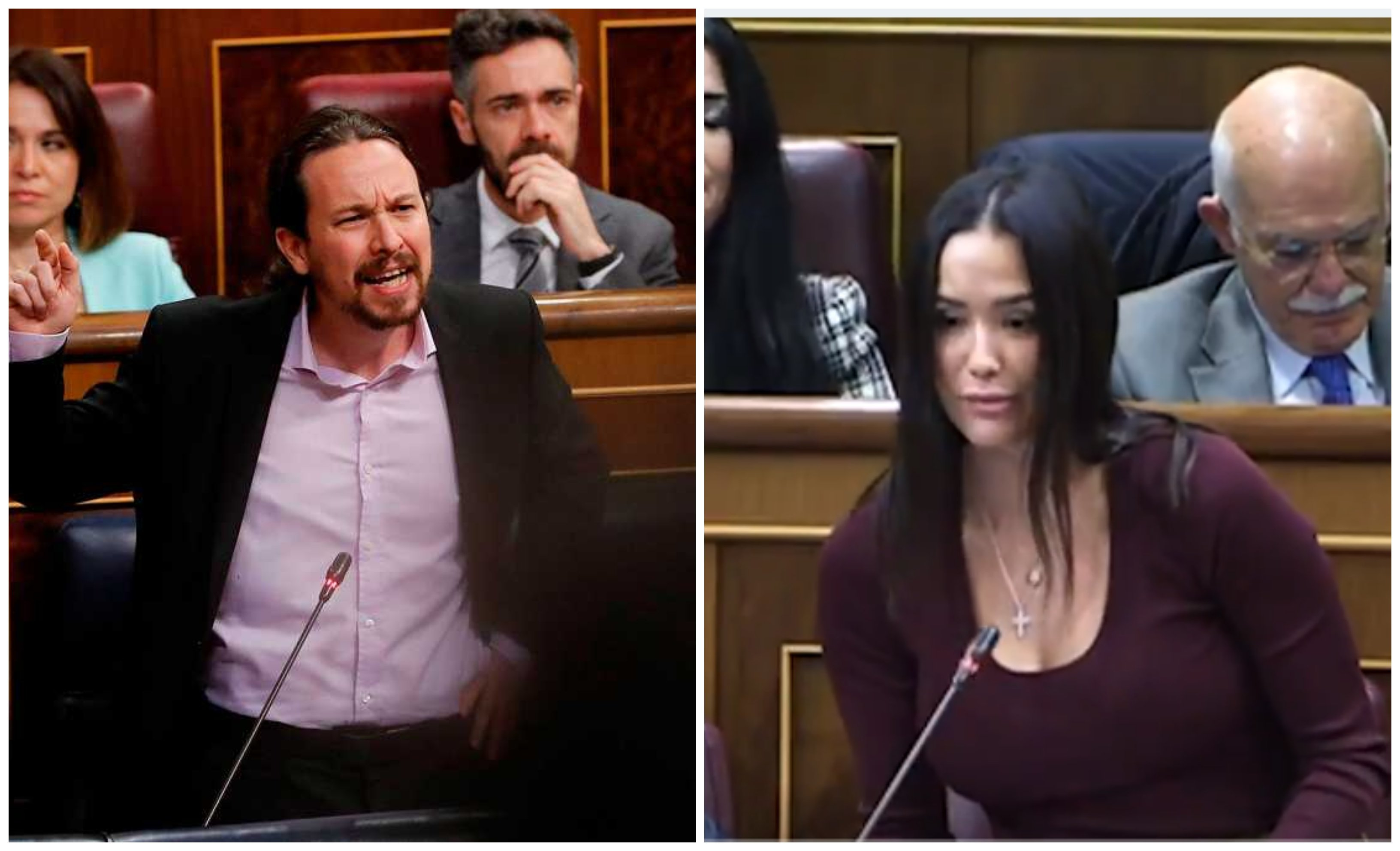 Sesión de control. Mireia Borrás (Vox) saca los colores a Pablo Iglesias al recordarle su empatía con Boti García sobre la relación de ésta con una menor de edad