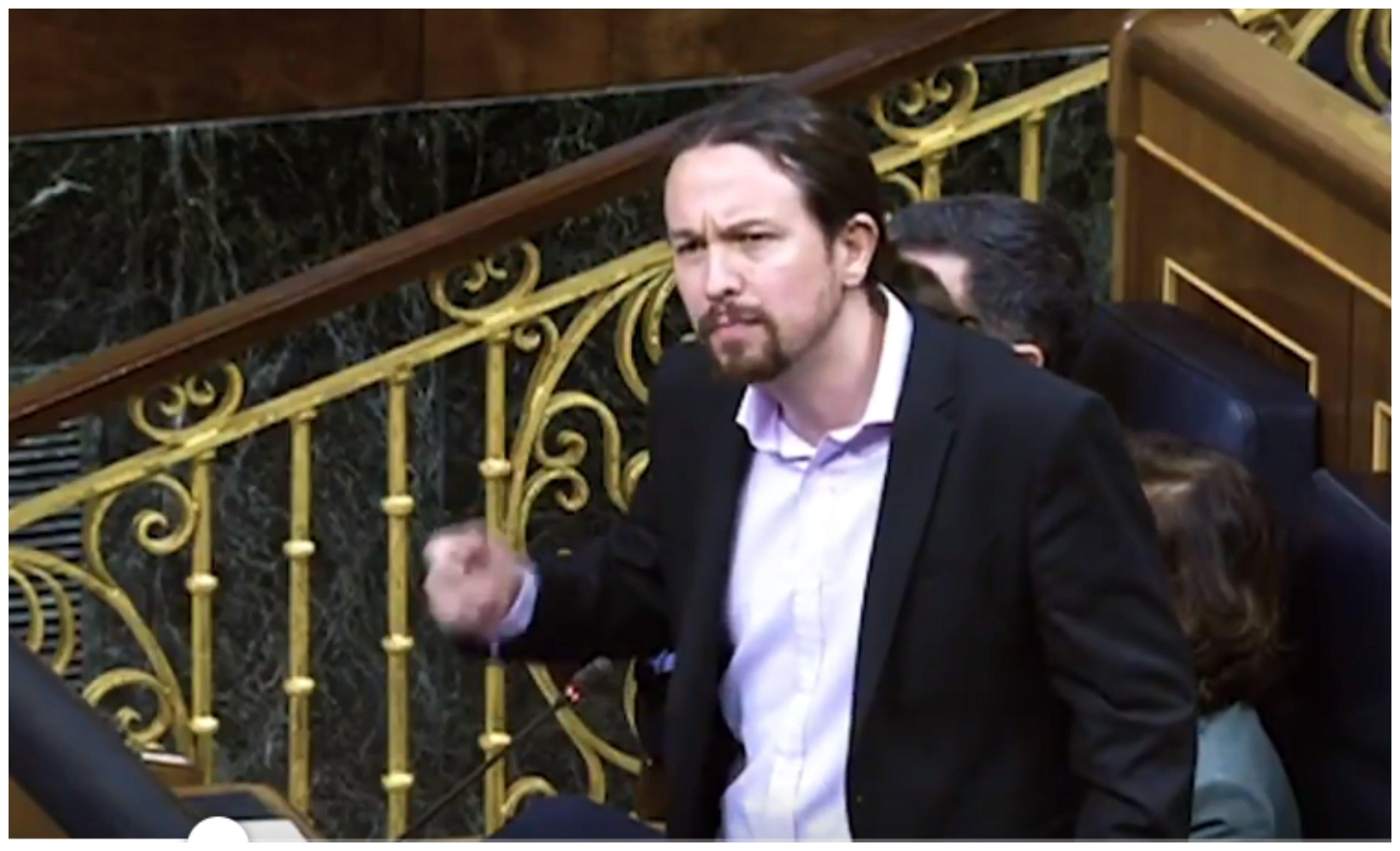 Se conocía la noticia de la muerte de Fernando Morán cuando Pablo Iglesias aprovechaba su último turno para calificar a la diputada Mireia Borrás llamándole repugnante y fascista