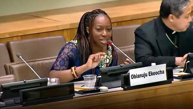 Obianuju Ekeocha defiende a las mujeres africanas de los ataques de las organizaciones mundialistas a sus convicciones, sus valores y su misma salud e integridad física.